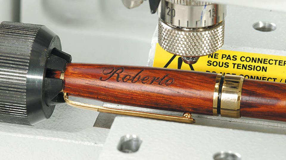Engraving for pen